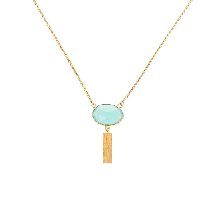 Buy the Maravedi Stone & Rectangle Drop Necklace at Oliver Bonas. Enjoy free worldwide standard delivery for orders over £50.