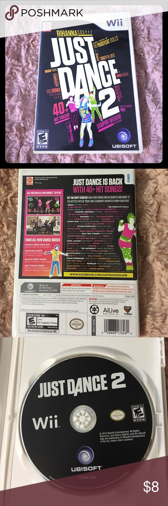 Wii game: Just Dance 2 Wii game Just Dance 2. Rarely used. Wii Other