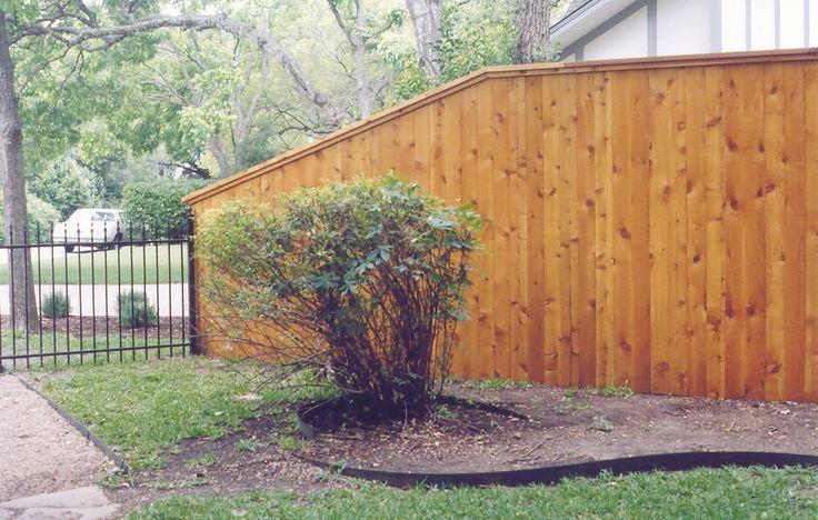 Wood Fence 6 To 4 Iron Fence Fence Transition Fence