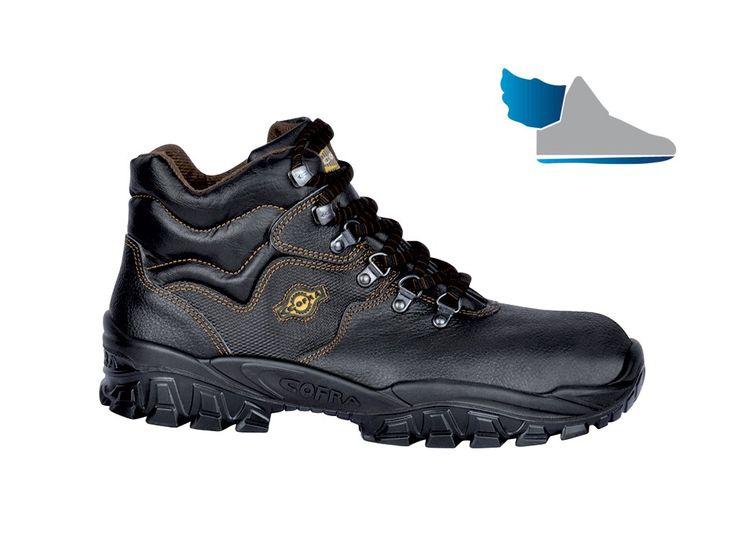 Čierne, pracovné členkové topánky  NEW RENO S3 SRC  s protišmykovou podrážkou.