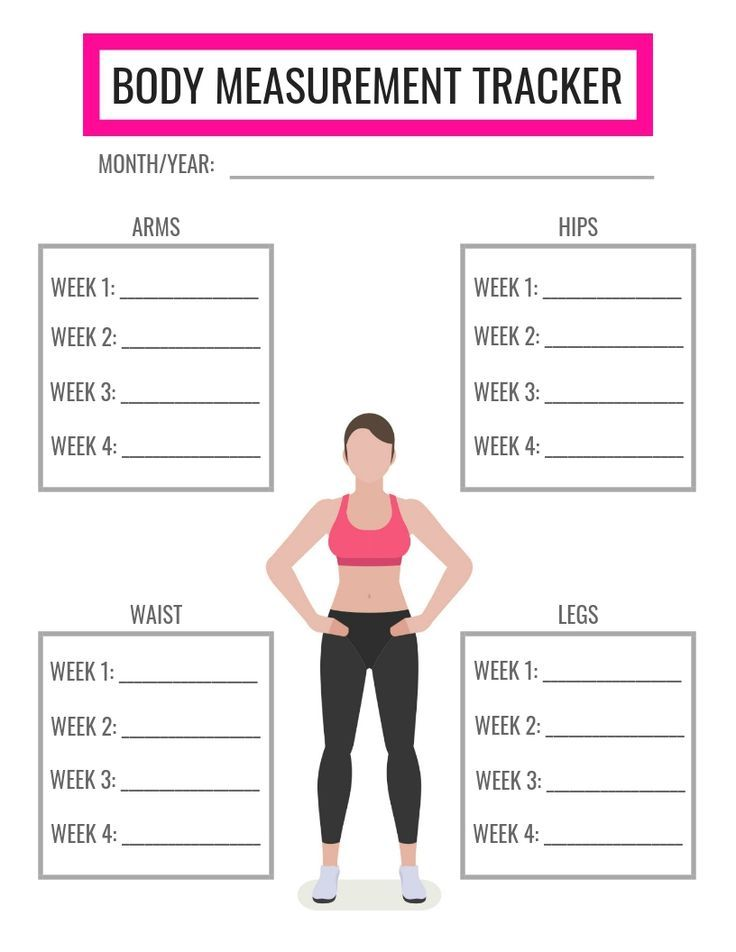free printable body measurement tracker celebrate your non scale victories by keeping track of. Black Bedroom Furniture Sets. Home Design Ideas