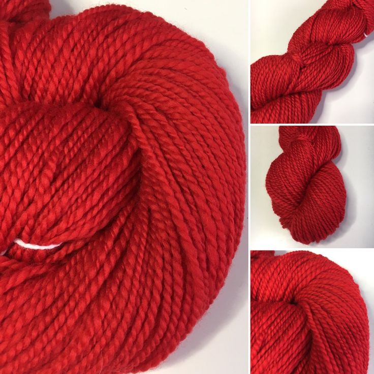 Christmas is coming! Get knitting with this lovely soft handspun merino wool in Christmas red.