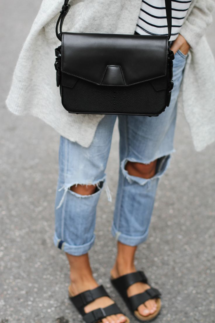 Alexander Wang bag, Citizens Of Humanity denim & Acne Studios cardigan. By Mija