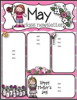 may newsletter templates