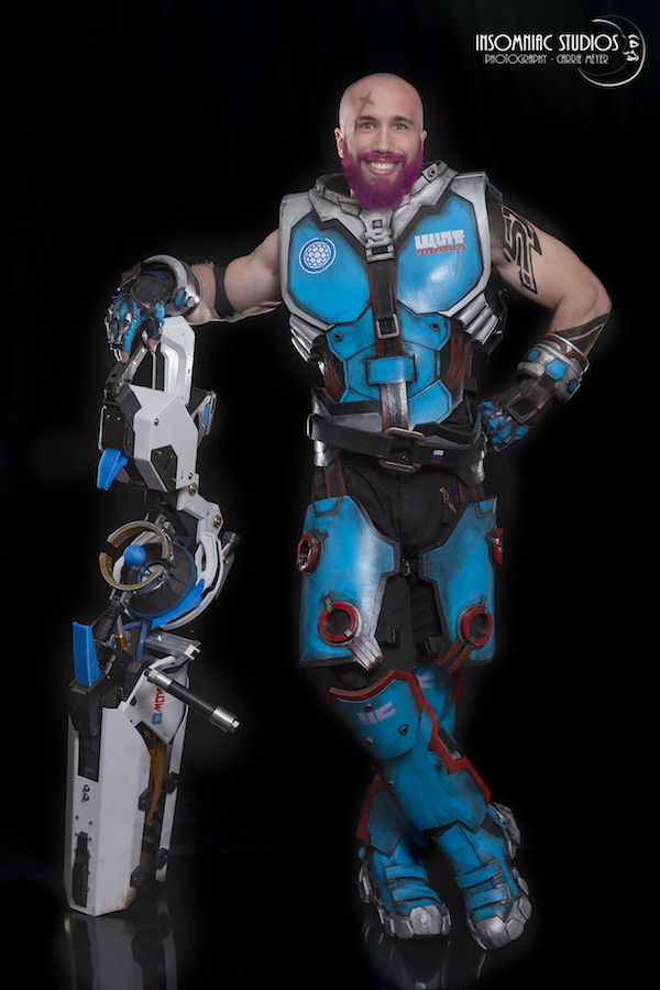 Zarya From 'Overwatch' Bald And Bearded [Cosplay]
