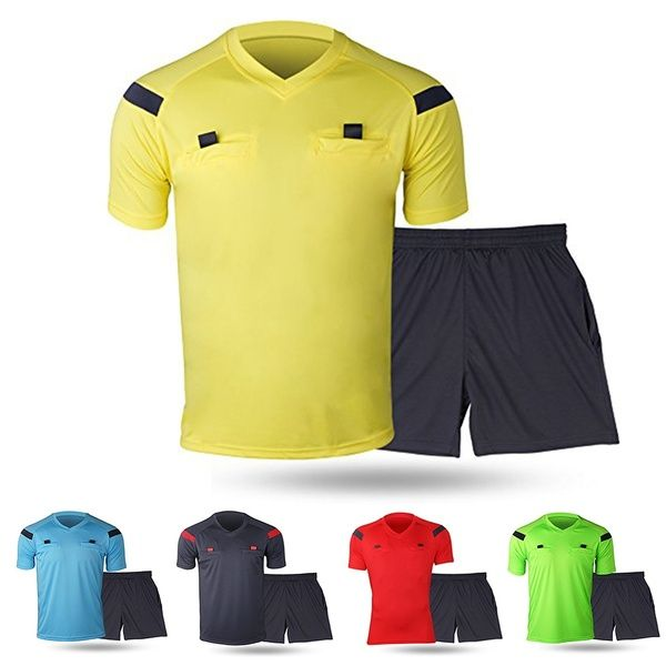 Referee Shirts Men S Soccer Football Sports Referee Umpire Shirt Uniform Jersey Costume Short Sleeves V Neck Wicking And Quick Drying Perfect For Outdoor Spo With Images Referee Shirts Mens Soccer Shirts