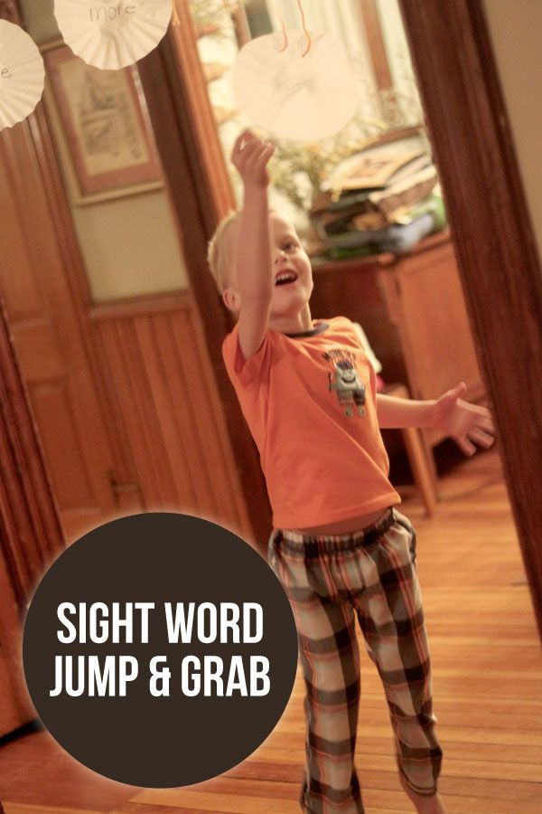 How about a sight word jump and grab activity to get the kids moving and learning? Kids will love to jump until they grab the sight word when they find it!