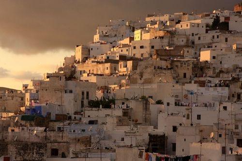 Beautiful View of Tetouan City Medina, Spanish-speaking Morocco