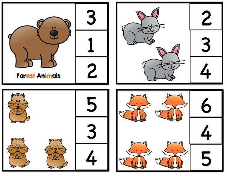 Preschool Printables: Forest Animals