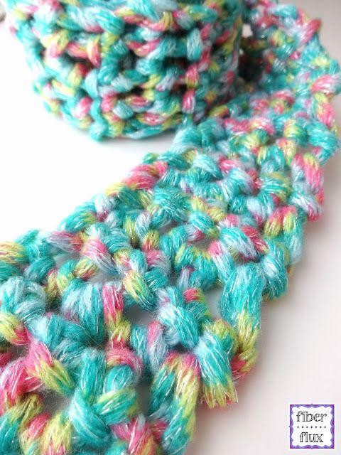 free crochet pattern...fun finger crochet scarf for kids - [someone else's caption]