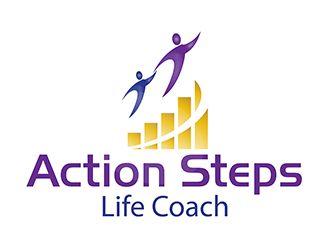 Action Steps Life Coach logo design - 48HoursLogo.com