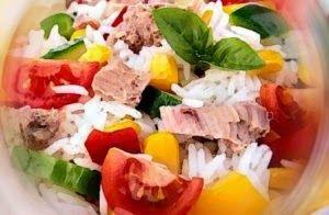 Эликсир молодости: Рисовый салат с тунцом