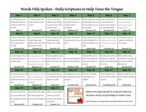 87 best bible study and memorization images on pinterest bible words fitly spoken free printable daily scriptures to help tame the tongue donotdepart fandeluxe Choice Image