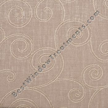 Linen Blend Semi Sheer Highlighted With A Scrolling Chain Stitch Embroidery Either Inch Curtains Or Length For Living Room Dining Area