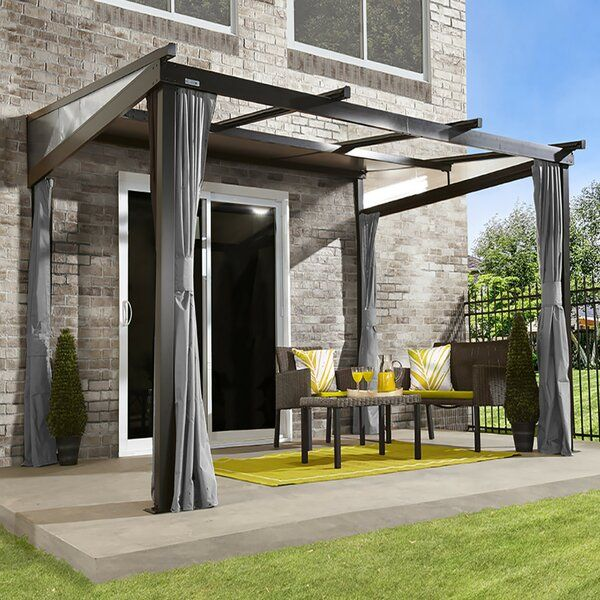 Budapest 12 Ft W X 10 Ft D Aluminum Patio Gazebo In 2020 Patio Overhang Ideas Backyard Patio Patio Awning