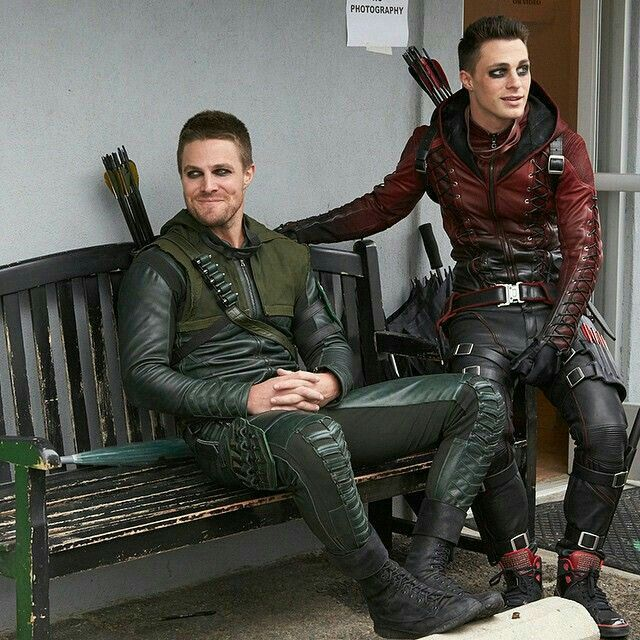 Stephen Amell (Arrow/Oliver Queen) & Colton Haynes (Arsenal/Roy Harper)