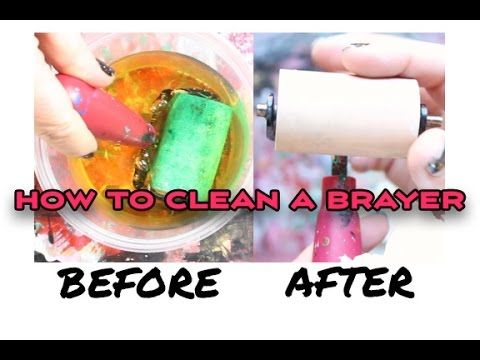 Art Tip: How to Clean a Rubber Brayer - YouTube