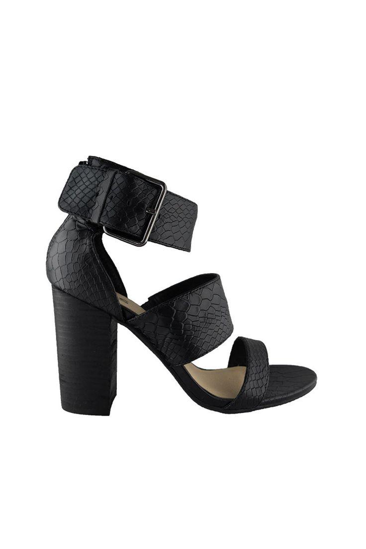 Iris Footwear - Designer Tibby Black Sandal Heels