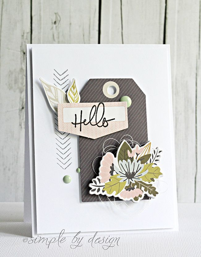 Grey & yellow-green are a fabulous combination. Especially when it's a grey striped tag with leaves and flowers.