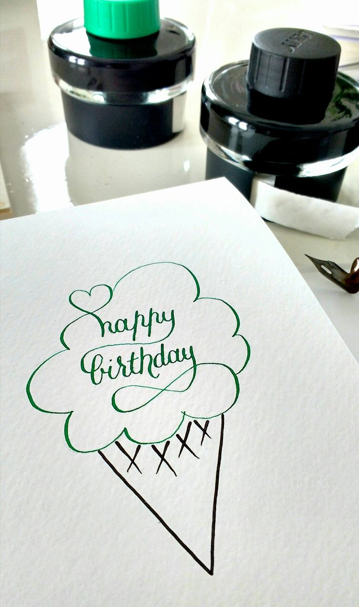Birthday card for summertime! Ink and nib and there you go :)