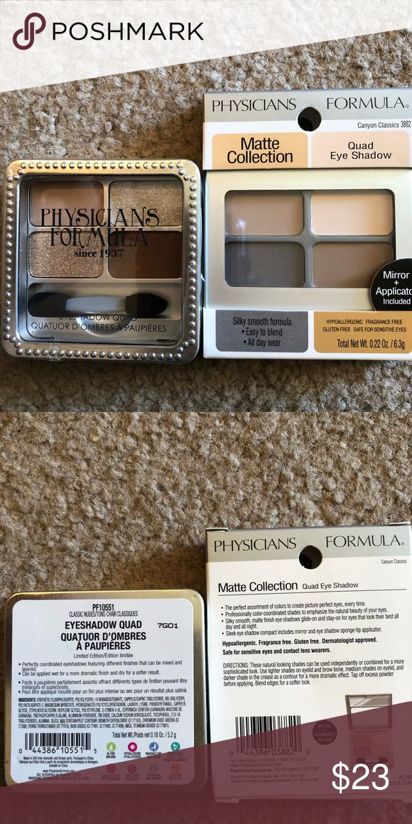 Physicians Formula Eyeshadow Duo NIP Physicians Formula Duo Matte Shadow Quad and Classic Nudes Quad (80th Anniversary Collection).  NIP. Physicians Formula Makeup Eyeshadow