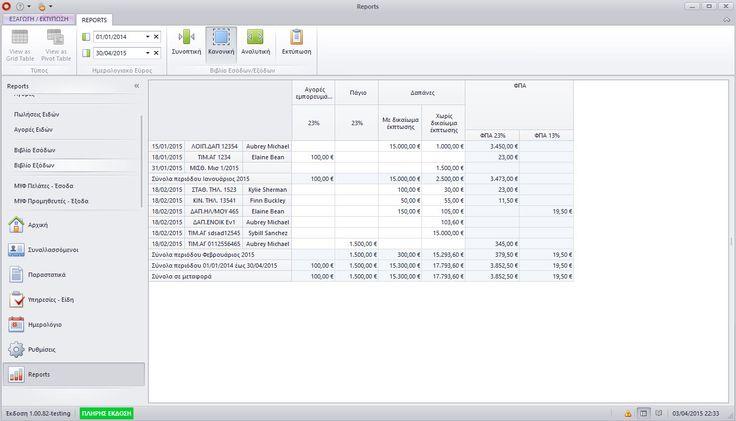Βιβλίο εσόδων-εξόδων και διασύνδεση ΜΥΦ