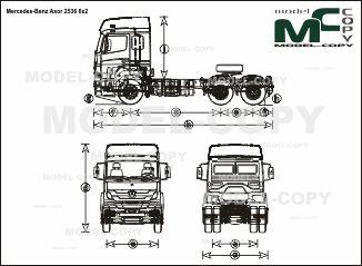 Mercedes-Benz Axor 2536 6x2 - drawing