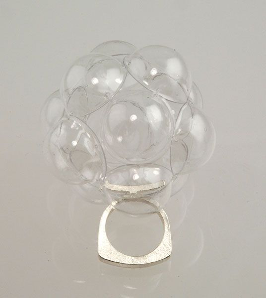 """Sabine lang - """"Cluster Bubbles"""" FlourishRing in silver and plastic"""