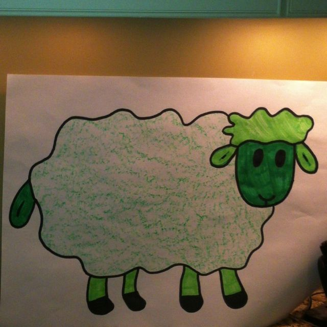 Where is the green sheep? During our unit hide a green sheep around the school. The children will have fun searching for the green sheep.