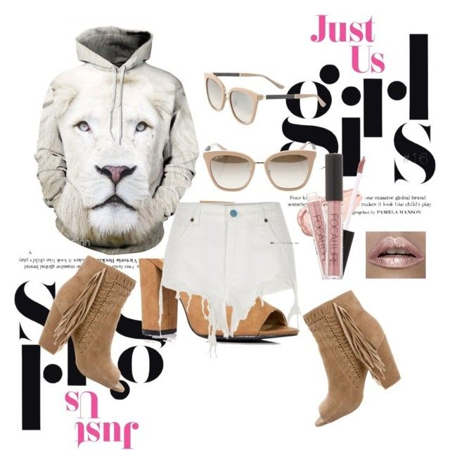 """Kimba the White Lion..Distressed"" by uknowbetter ❤ liked on Polyvore featuring Boohoo, River Island, Rebecca Minkoff and Jimmy Choo"