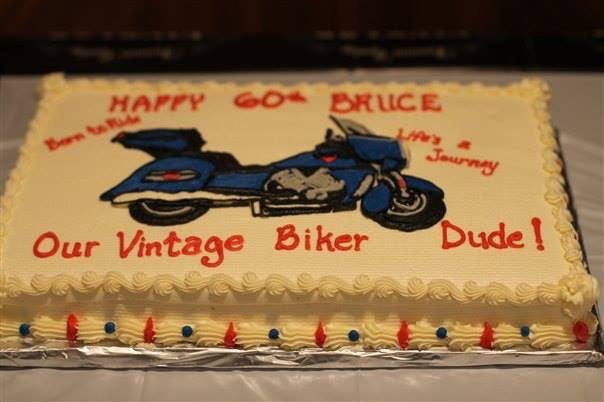 Victory Motorcycle For His Birthday Cake 60th Birthday