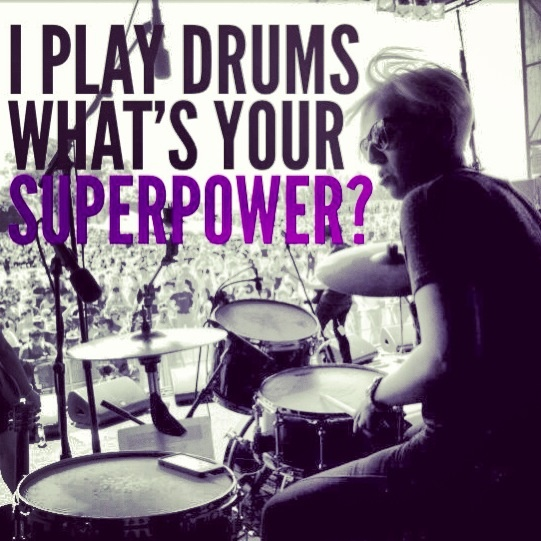 Female drummer amazing style and feel.