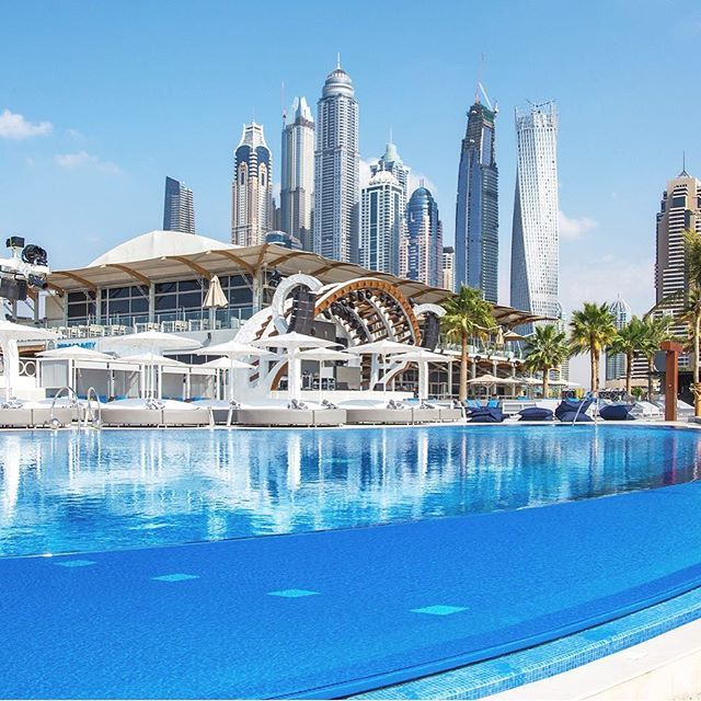 Mondays should look like this check out the pool at - Egyptian club dubai swimming pool ...