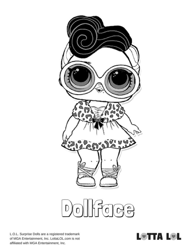 Dollface Coloring Page Lotta LOL Coloring pages, Kids