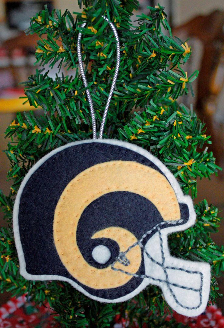 Sports christmas ornaments - Felt Christmas Ornament St Louis Rams Football Helmet Pinned By Pin4etsy Com