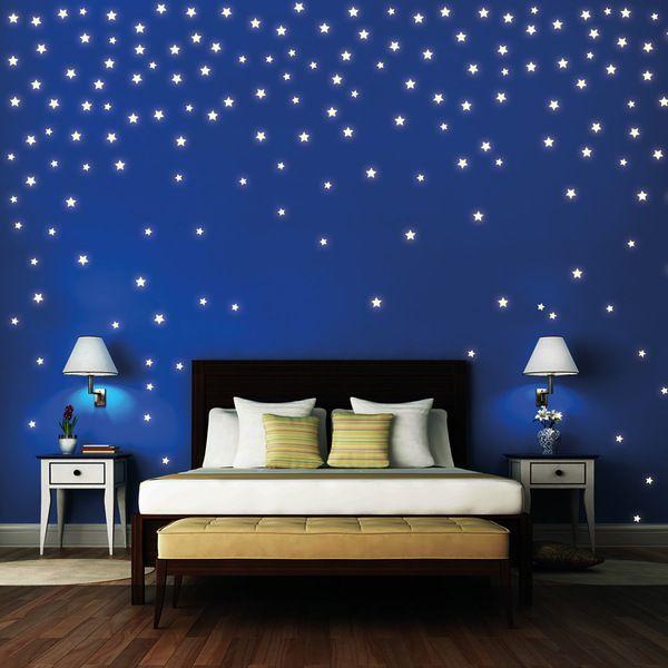 Ideal Wandtattoo Sterne St ck leuchten fluoreszierend