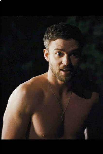 Justin Timberlake    The singer turned actor strips down for a skinny dipping scene in the trailer for his new movie, Trouble With The Curve.