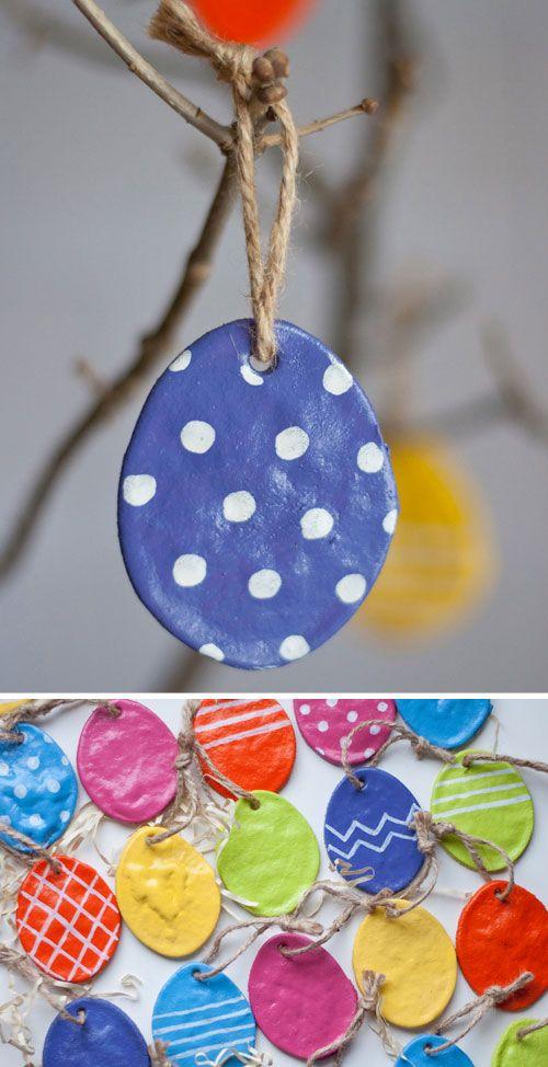 40+ Simple Easter Crafts for Kids - DIY Salt Dough Eggs