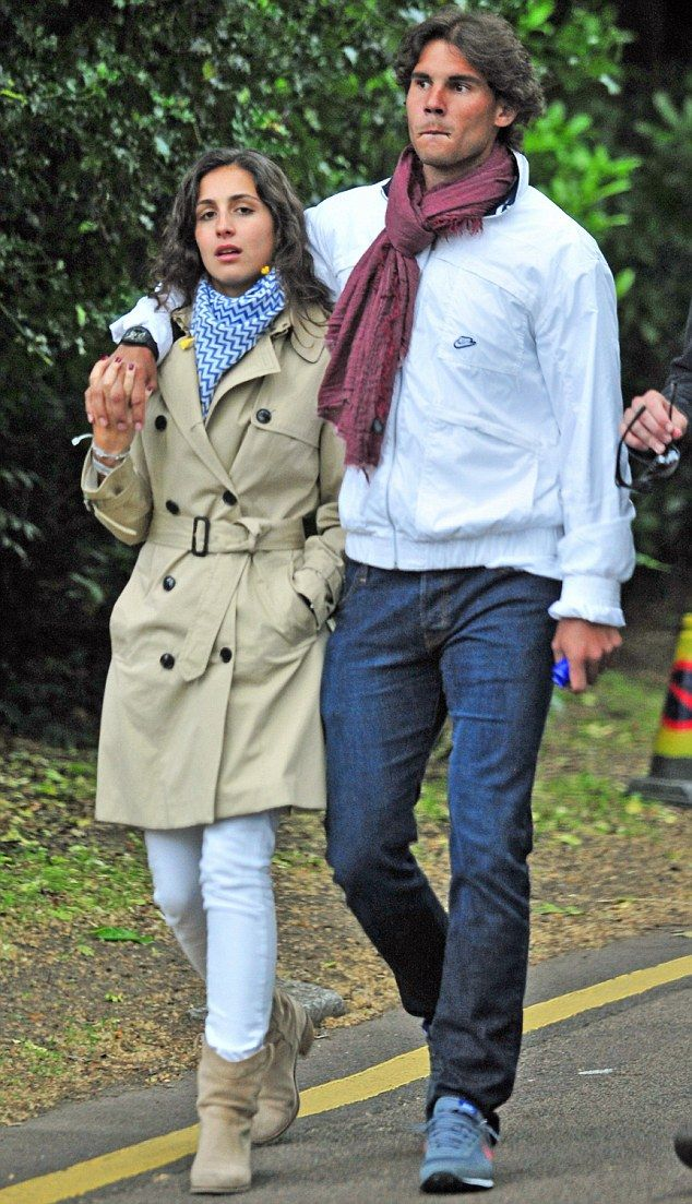 Rafael Nadal looked relaxed whilst out with his girlfriend Maria Perello on the eve of Wimbledon 2012