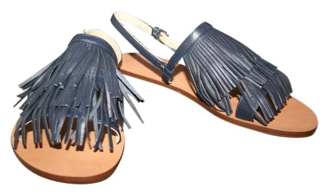 J.Crew Fringe Slingback Size 10m C4149 Navy Sandals. Get the must-have sandals of this season! These J.Crew Fringe Slingback Size 10m C4149 Navy Sandals are a top 10 member favorite on Tradesy. Save on yours before they're sold out!
