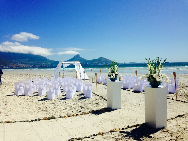 Perfect Beach Ceremony! White sand, blue skies and beautiful location