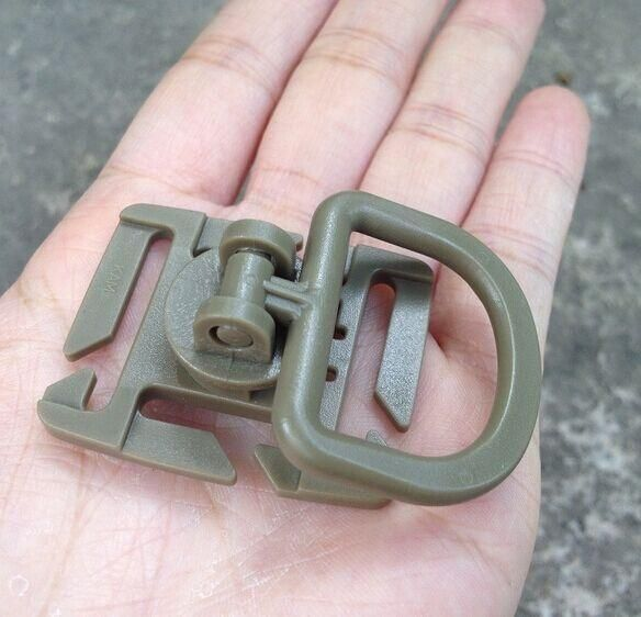 10Pcs Tactical Grimlock Rotation D-Ring Clips Buckle Molle Webbing Attachment Backpack Locking Carabiner Edc Camping Tool Fw010
