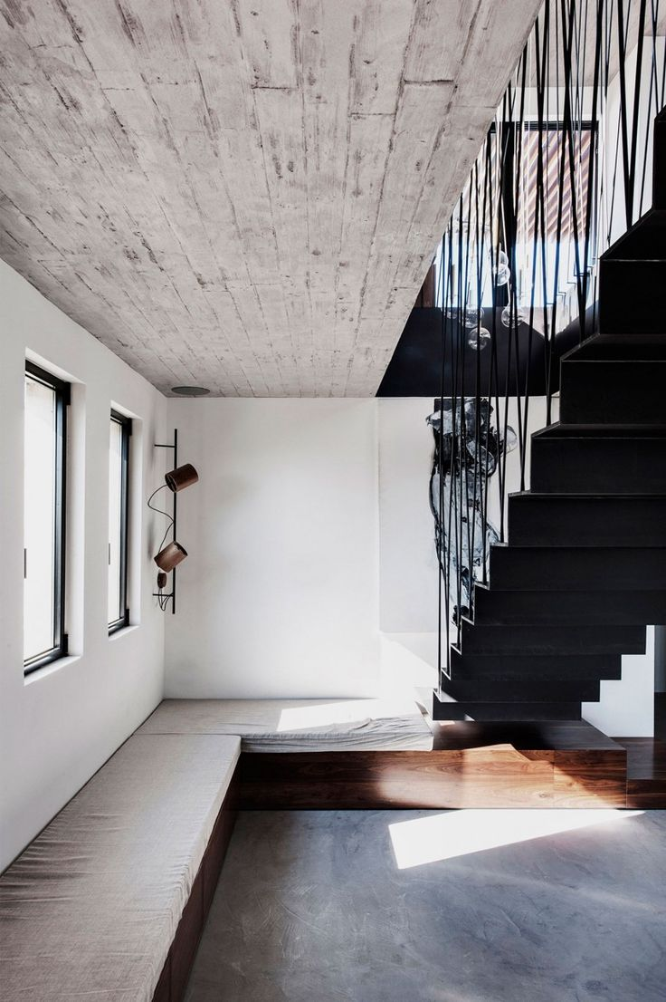 Alternating tread stair revit home design ideas - Toledano Architects Design A Chic And Playful Duplex Penthouse In Tel Aviv