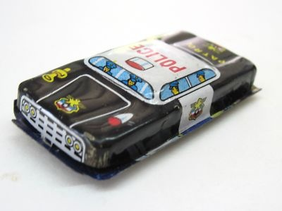 1950s Tin toy police car: 1950S Tins