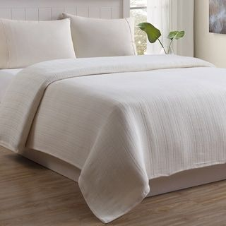 Mountain Ridge Outlast/Cotton Cable Weave Blanket (White – Twin)