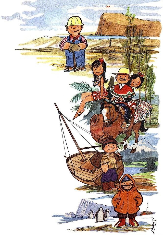 Ilustración de LUKAS (Renzo Pecchenino, dibujante Italo-chileno)