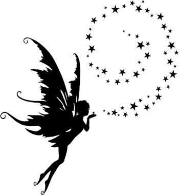 Fairy Silhouettes Vectors Clipart Svg Templates Cutting Files A Collection Of Other