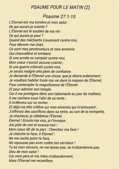 Psaume pour le matin (2)