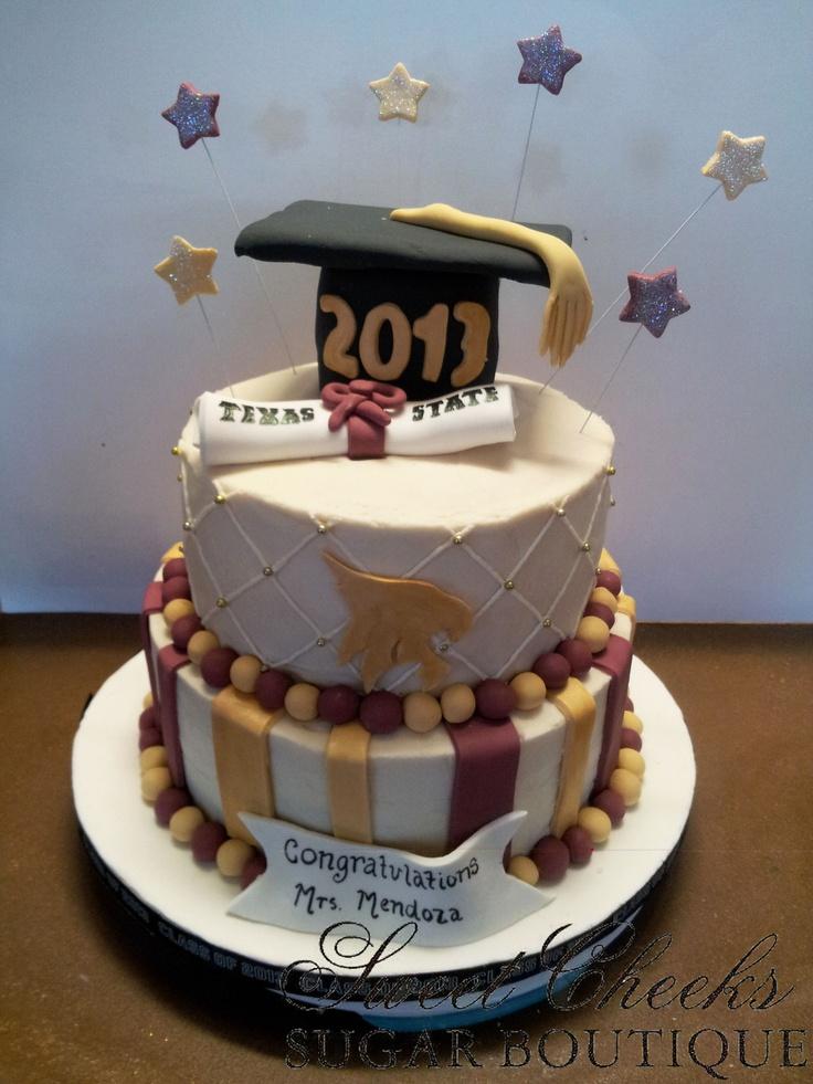 Cake Design University : A Texas State graduation cake! TXST Graduation ...