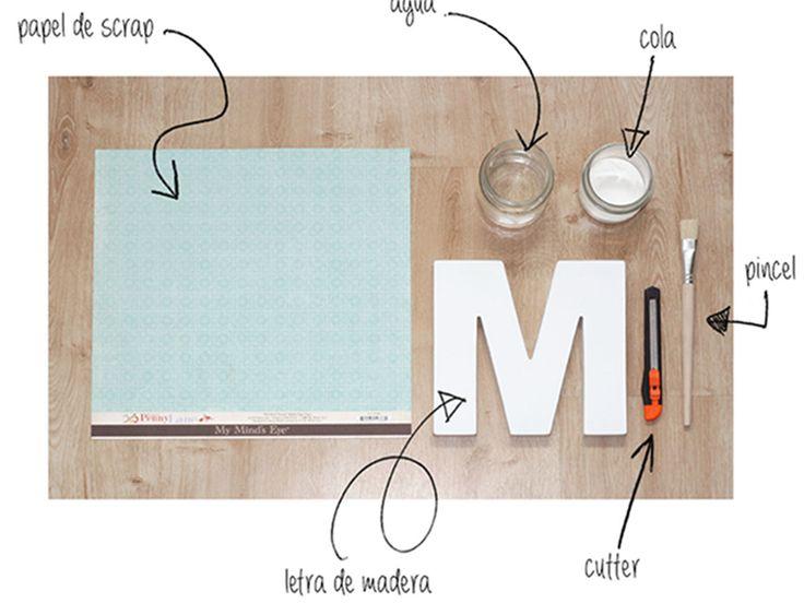 cómo decorar letras de madera